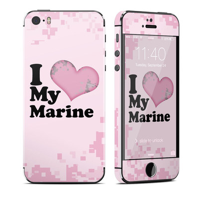 Apple iPhone 5S Skin - I Love My Marine