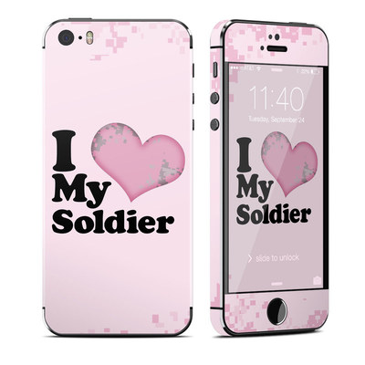 Apple iPhone 5S Skin - I Love My Soldier