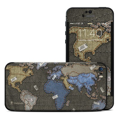 Apple iPhone 5S Skin - Jean Map