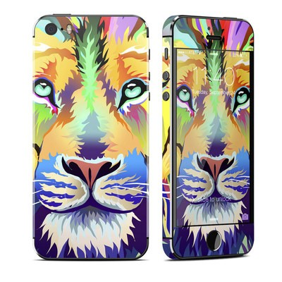 Apple iPhone 5S Skin - King of Technicolor