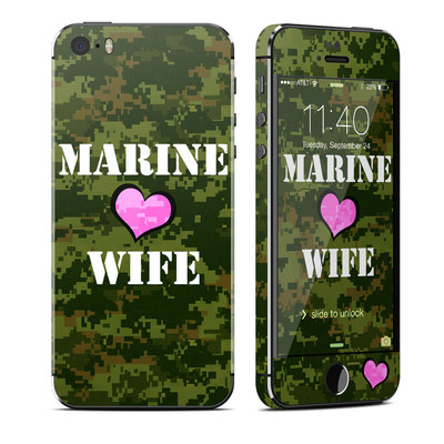Apple iPhone 5S Skin - Marine Wife