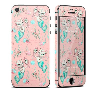 Apple iPhone 5S Skin - Merkittens with Pearls Blush
