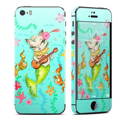 Apple iPhone 5S Skin - Merkitten with Ukelele