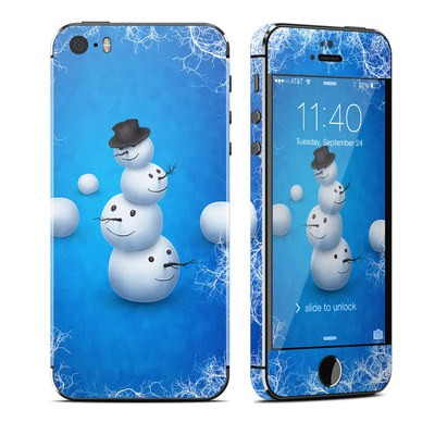 Apple iPhone 5S Skin - Merry Snowman