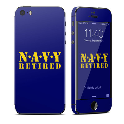Apple iPhone 5S Skin - Navy Retired