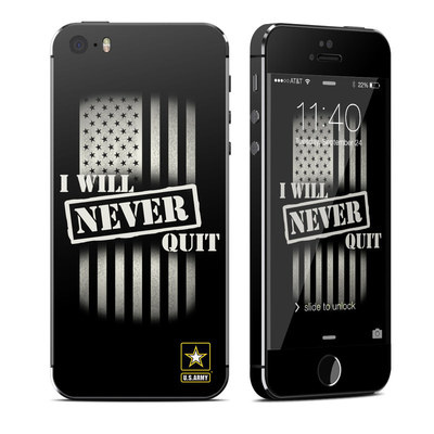 Apple iPhone 5S Skin - Never Quit