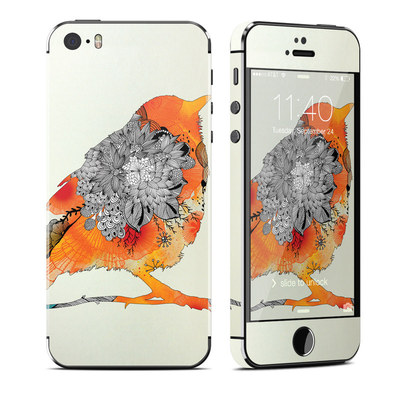 Apple iPhone 5S Skin - Orange Bird