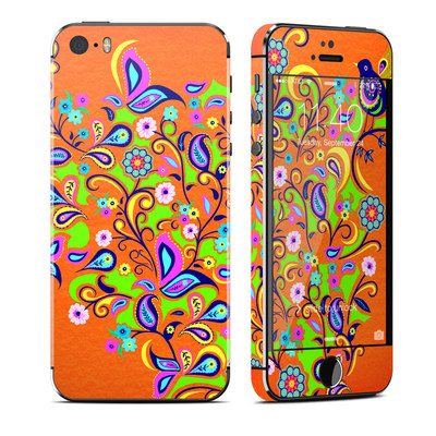 Apple iPhone 5S Skin - Orange Squirt