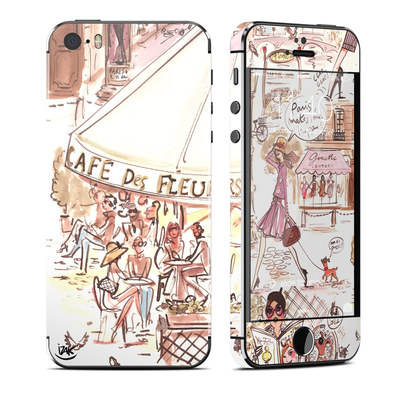 Apple iPhone 5S Skin - Paris Makes Me Happy