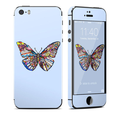 Apple iPhone 5S Skin - Pieced Butterfly