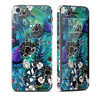 Apple iPhone 5S Skin - Peacock Garden