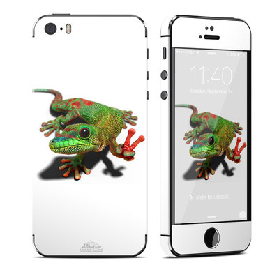 Apple iPhone 5S Skin - Peace Gecko