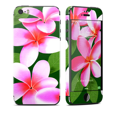 Apple iPhone 5S Skin - Pink Plumerias