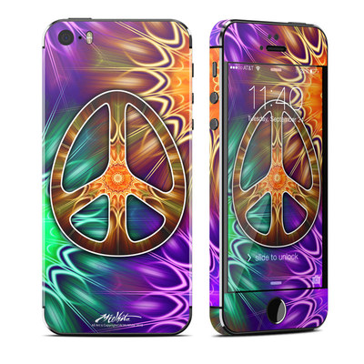 Apple iPhone 5S Skin - Peace Triptik