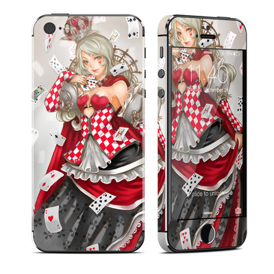 Apple iPhone 5S Skin - Queen Of Cards