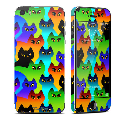 Apple iPhone 5S Skin - Rainbow Cats