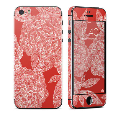 Apple iPhone 5S Skin - Red Dahlias