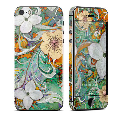 Apple iPhone 5S Skin - Sangria Flora