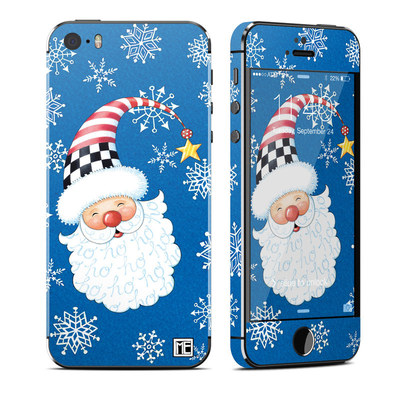Apple iPhone 5S Skin - Santa Snowflake