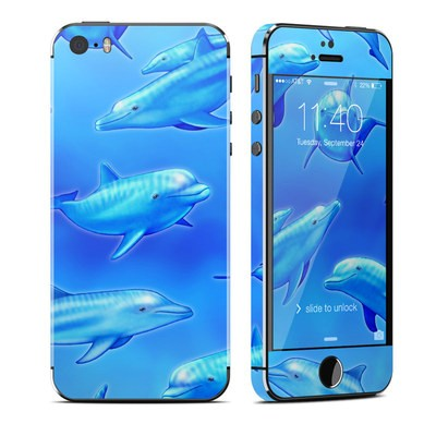 Apple iPhone 5S Skin - Swimming Dolphins