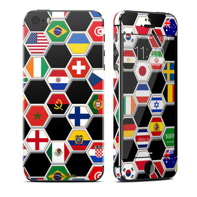 Apple iPhone 5S Skin - Soccer Flags