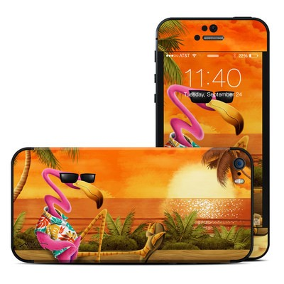 Apple iPhone 5S Skin - Sunset Flamingo