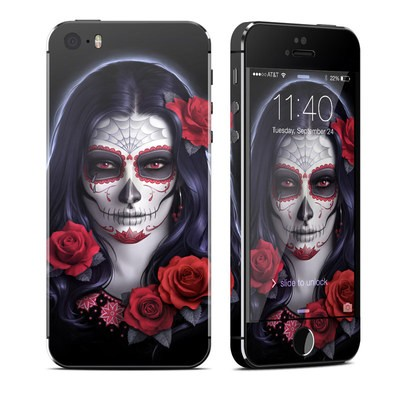 Apple iPhone 5S Skin - Sugar Skull Rose