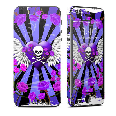 Apple iPhone 5S Skin - Skull & Roses Purple