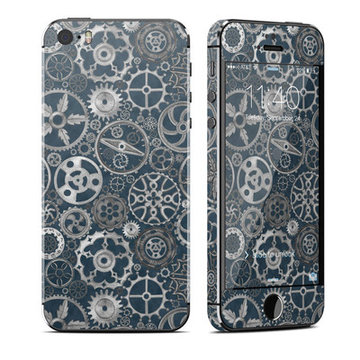 Apple iPhone 5S Skin - Silver Gears