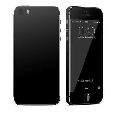 Apple iPhone 5S Skin - Solid State Black