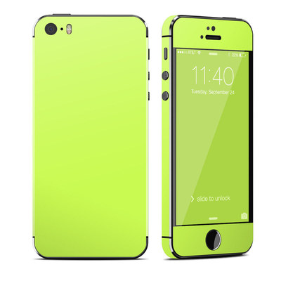 Apple iPhone 5S Skin - Solid State Lime