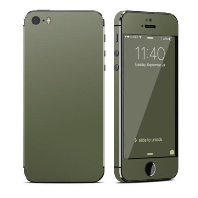 Apple iPhone 5S Skin - Solid State Olive Drab