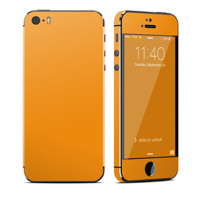 Apple iPhone 5S Skin - Solid State Orange