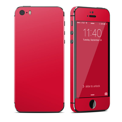 Apple iPhone 5S Skin - Solid State Red
