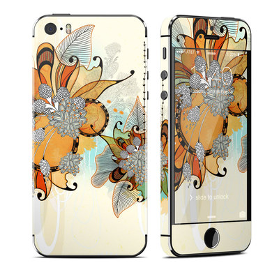 Apple iPhone 5S Skin - Sunset Flowers