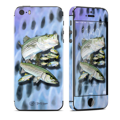 Apple iPhone 5S Skin - Striped Bass