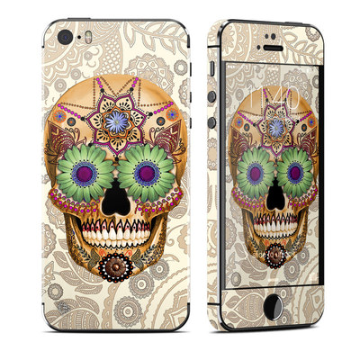 Apple iPhone 5S Skin - Sugar Skull Bone