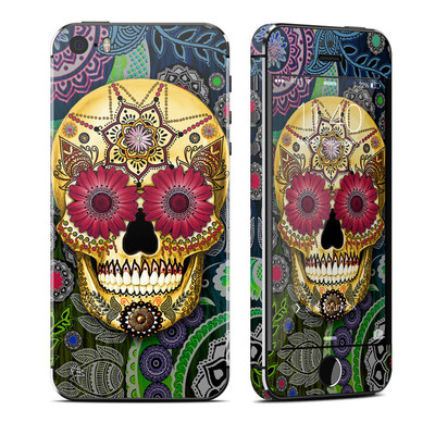 Apple iPhone 5S Skin - Sugar Skull Paisley