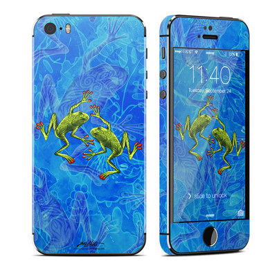 Apple iPhone 5S Skin - Tiger Frogs