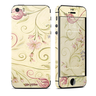 Apple iPhone 5S Skin - Tulip Scroll