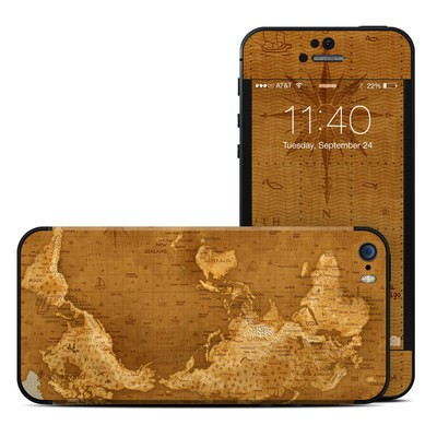 Apple iPhone 5S Skin - Upside Down Map