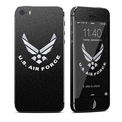 Apple iPhone 5S Skin - USAF Black