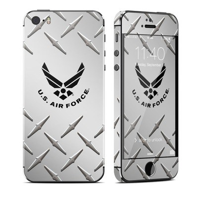 Apple iPhone 5S Skin - USAF Diamond Plate
