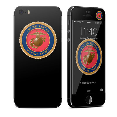 Apple iPhone 5S Skin - USMC Black
