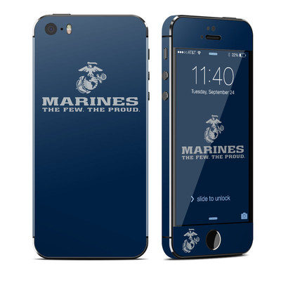Apple iPhone 5S Skin - USMC Blue