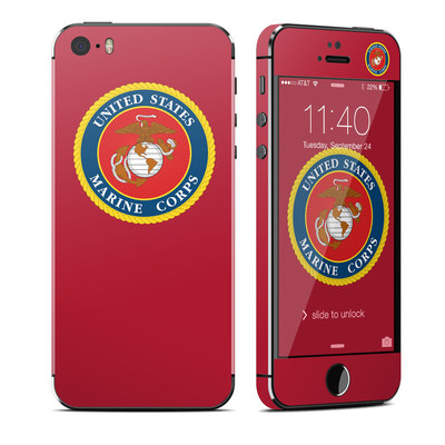 Apple iPhone 5S Skin - USMC Red
