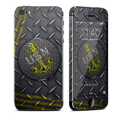 Apple iPhone 5S Skin - USN Diamond Plate