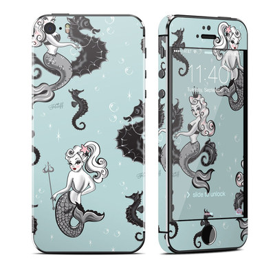 Apple iPhone 5S Skin - Vintage Mermaid