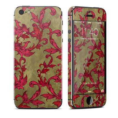 Apple iPhone 5S Skin - Vintage Scarlet