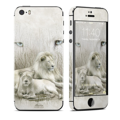 Apple iPhone 5S Skin - White Lion